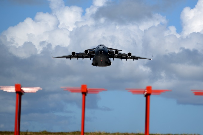 Andersen mobility Airmen conduct fall training with Travis C-17